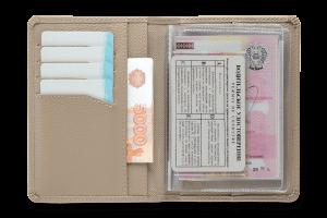 Бумажник водителя  Driver Beige