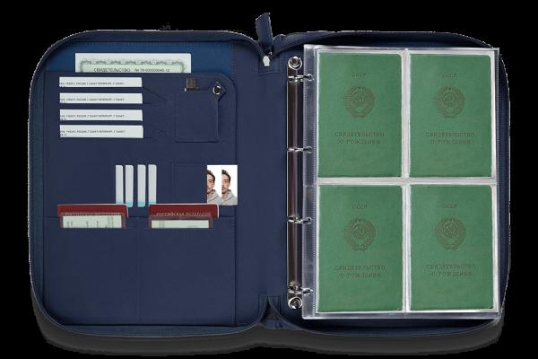 Папка для документов – Дела Семейные Blue