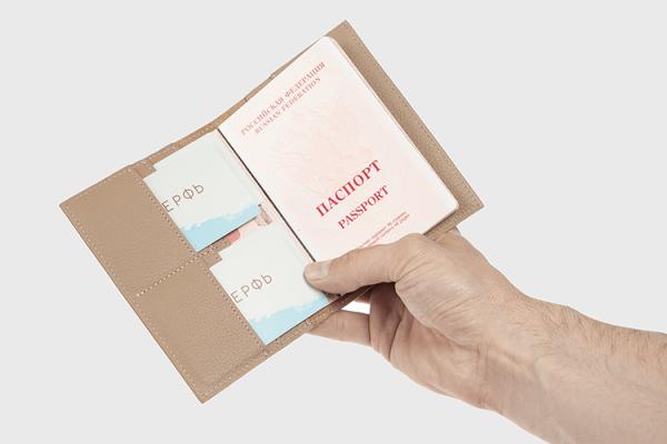 Обложка на паспорт Docker Beige