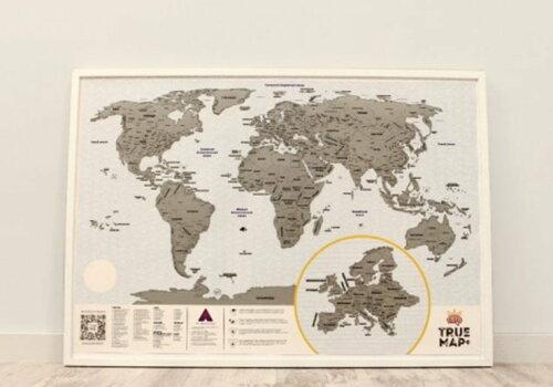 светлая стираемая карта мира