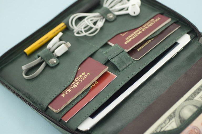Аксессуары для путешествий Аксессуары для путешествий Папки для документов в путешествие Travel Pack Green