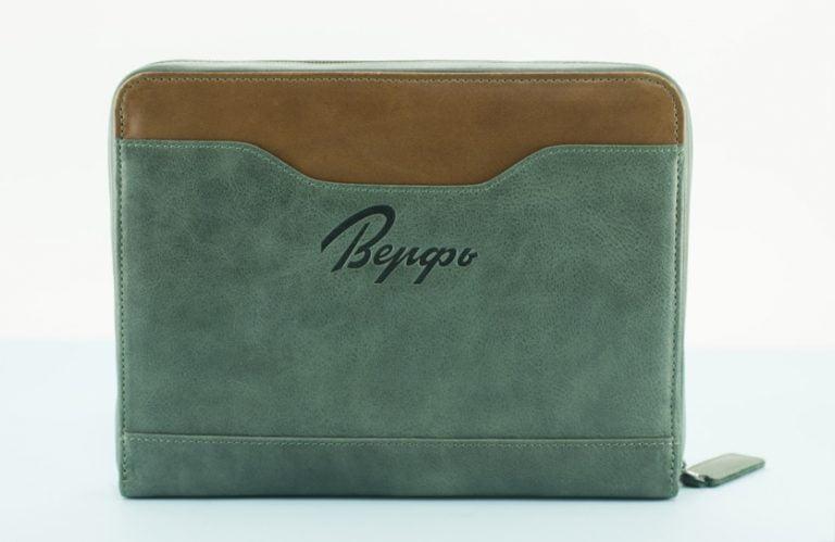органайзер для документов для путешествий кожаный зеленый Travel Pack Green