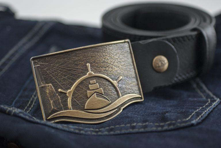 Аксессуары Мужские кожаные ремни Seabelt Gold