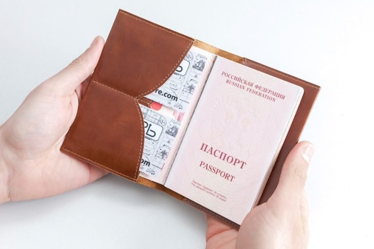 Аксессуары Обложка на паспорт Чайка Brown