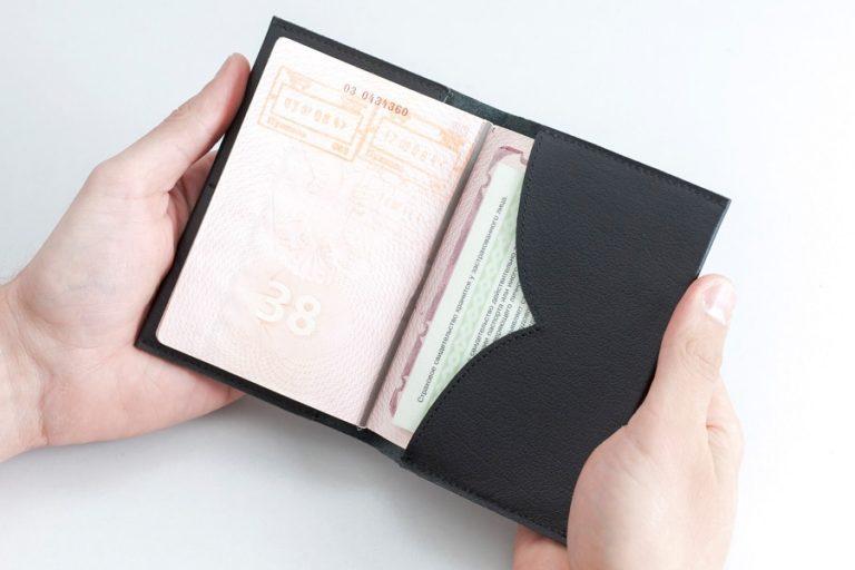 Аксессуары Обложка на паспорт Чайка Black