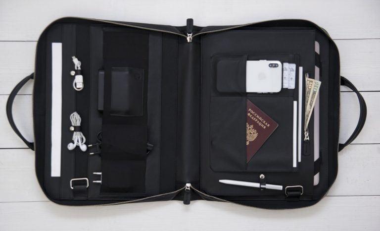 деловая кожаная сумка Континент