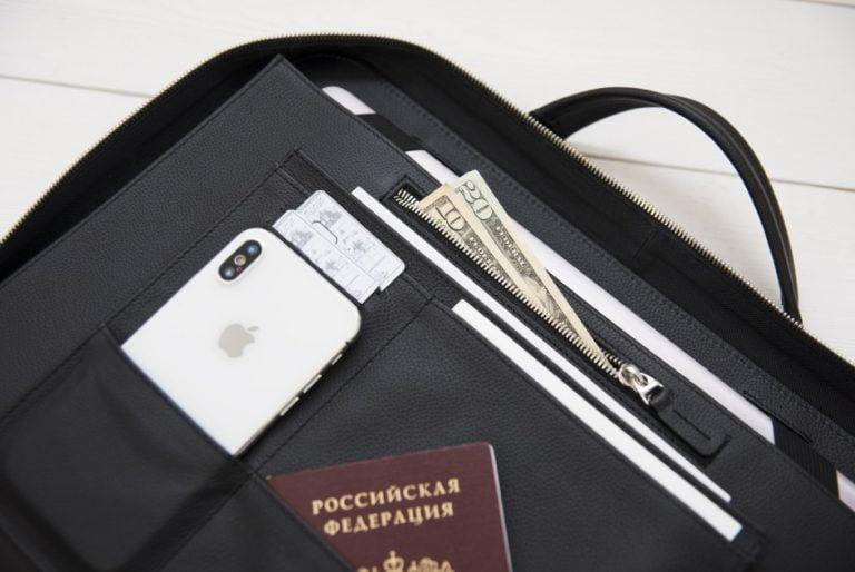 деловая кожаная сумка Continent