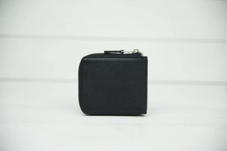 Кошельки Мужские кошельки на молнии Черные кошельки Кошельки Zipper Black
