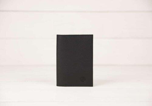 обложка на паспорт кожаная мужская черная