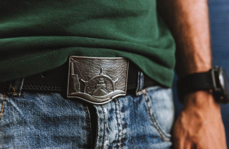 Аксессуары Мужские кожаные ремни Seabelt Silver