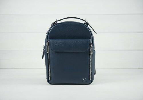 Dolphin рюкзак женский кожаный городской синий
