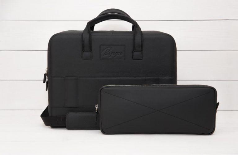 деловая кожаная сумка Continent внешний карман