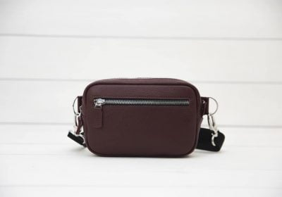 бордовая сумка на пояс Bumbag Bordo