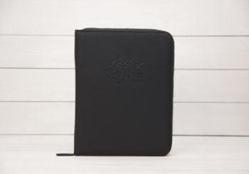 органайзер для документов черный dela semejnye из кожи