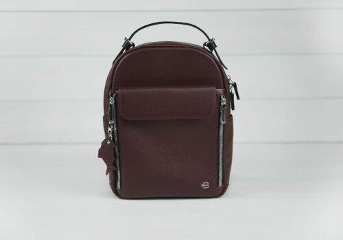 Dolphin бордовый натуральный кожаный рюкзак