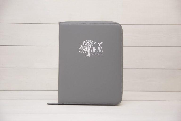 dela semejnye серая папка для хранения домашних документов экокожа