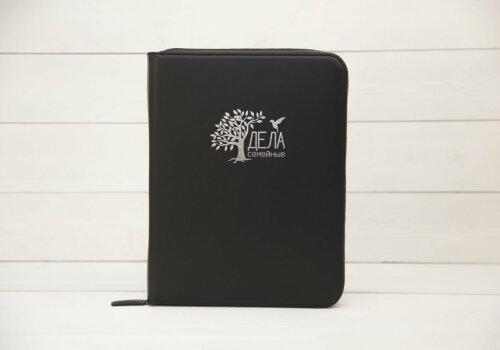 dela semejnye черная папка для хранения домашних документов экокожа