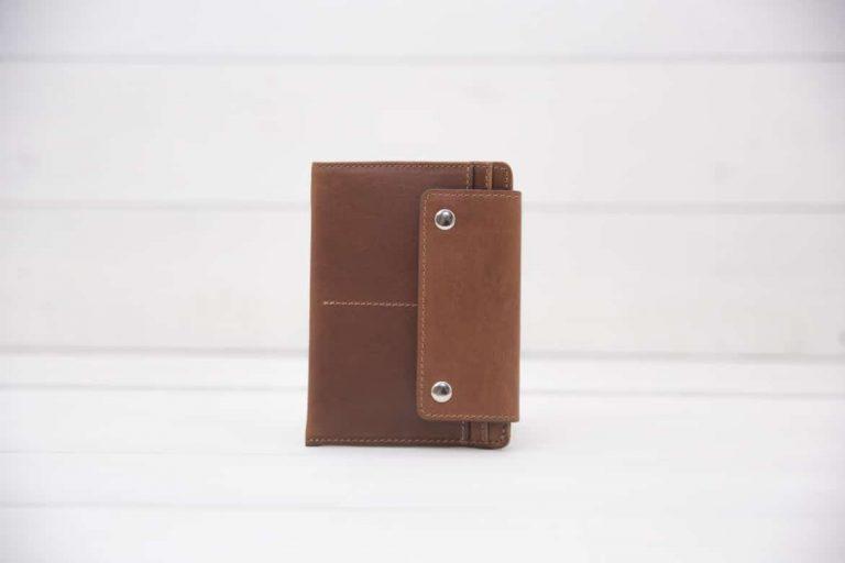 кожаный футляр для паспорта и прав коричневый Smart