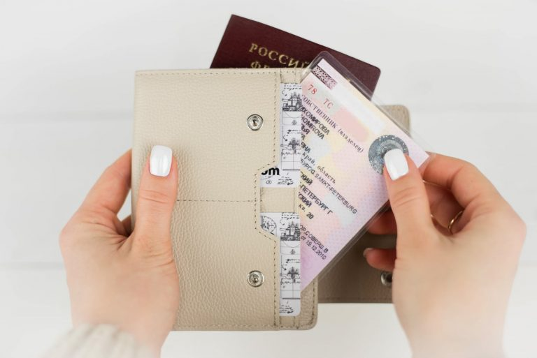 Аксессуары для путешествий Аксессуары Дорожные кошельки Аксессуары Бумажник водителя Обложка на паспорт Smart Beige