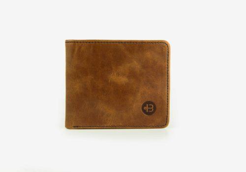 маленький коричневый кошелек из кожи Wave Brown