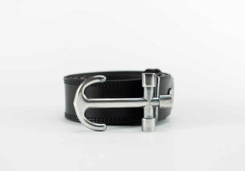 мужской кожаный ремень пряжка якорь от бренда Верфь