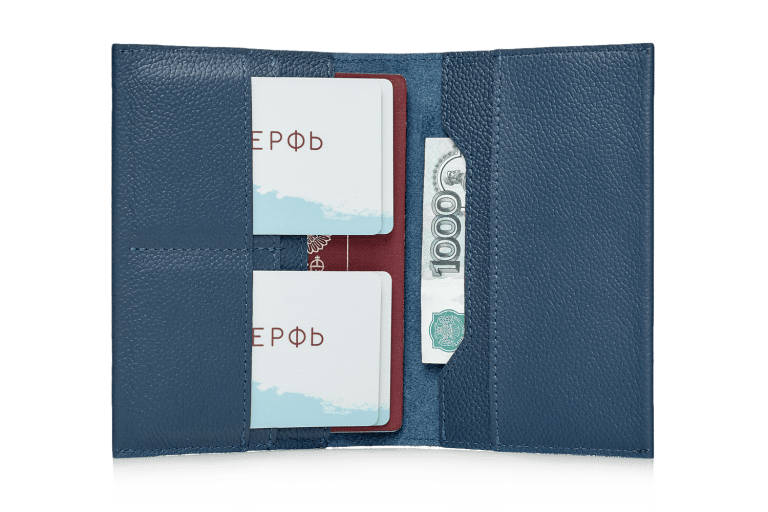 Обложка на паспорт Docker Blue