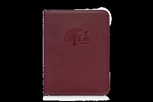 бордовая кожаная папка для семейных документов