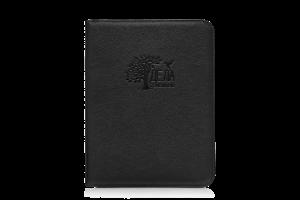 черная кожаная папка для семейных документов