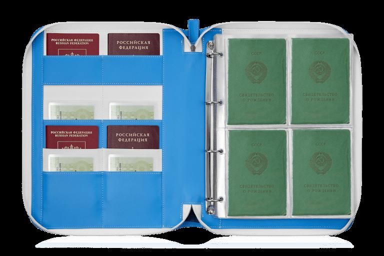 Папка для документов — Дела Семейные Eco Blue