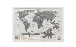 Скретч карта мира True Map Plus White