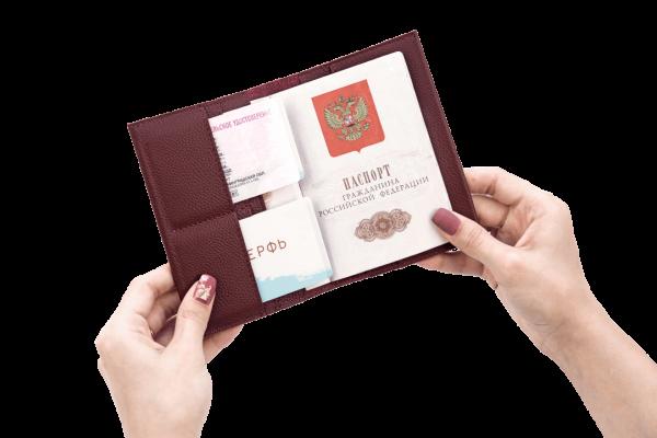 Обложка на паспорт Docker Bordo