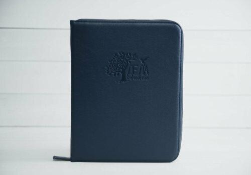 dela semejnye синяя папка для хранения домашних документов кожа