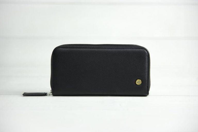 черное портмоне из кожи Port Black