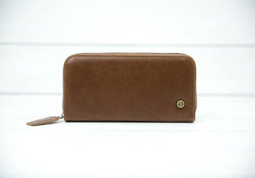 коричневое портмоне из кожи Port Brown