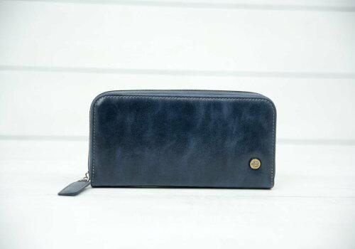 синее портмоне из кожи Port Blue
