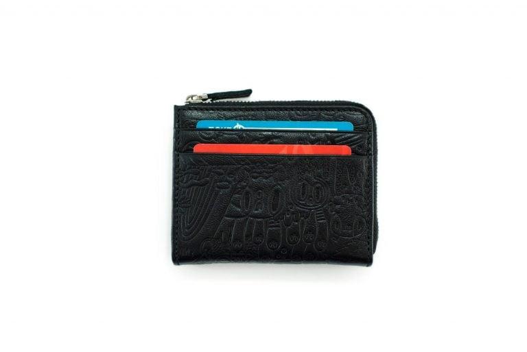 черный коаный кошелек с дизайнерским тиснением Duck Yeka Black