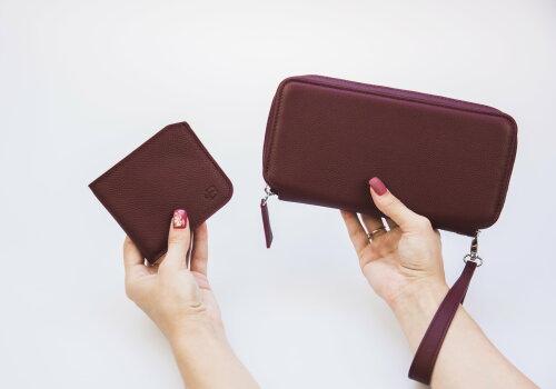 бордовое кошелек портмоне женский Tandem Bordo