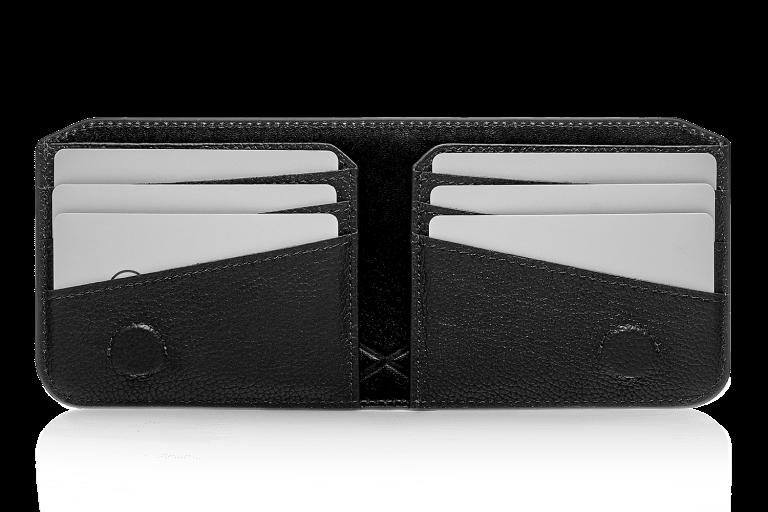 Кошельки Аксессуары для путешествий Кожаное мужское портмоне Портмоне Черные кошельки Дорожные кошельки Кошельки Tandem Black