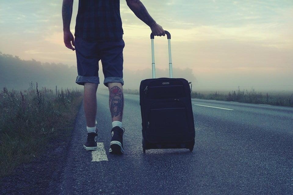 чемодан с колёсиками