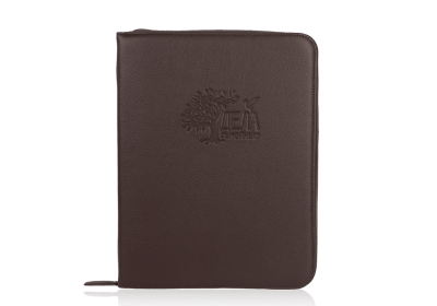 коричневая папка для семейных документов из кожи
