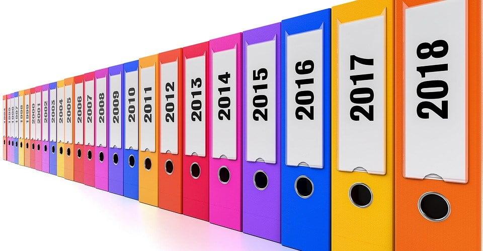 сортировка документов по годам