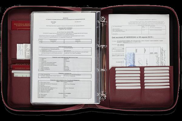 Папка для документов – Дела Семейные MAXI Bordo