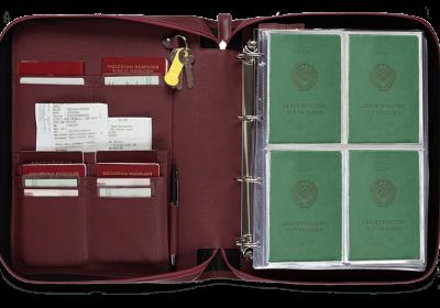 Папка для документов — Дела Семейные MAXI Bordo