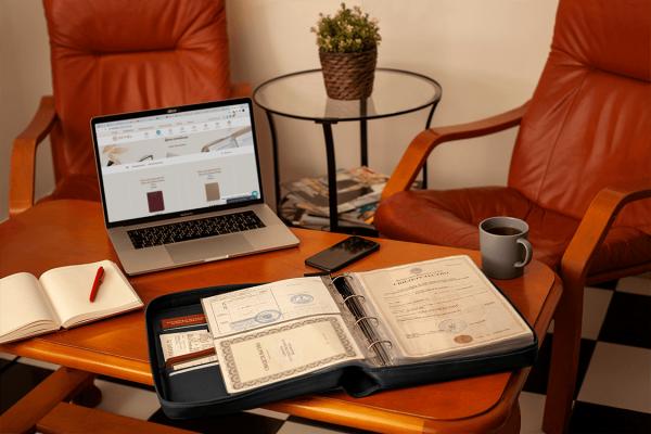 Папка для документов – Дела Семейные MAXI Black