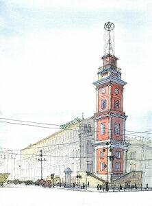 Постер Башня Городской Думы