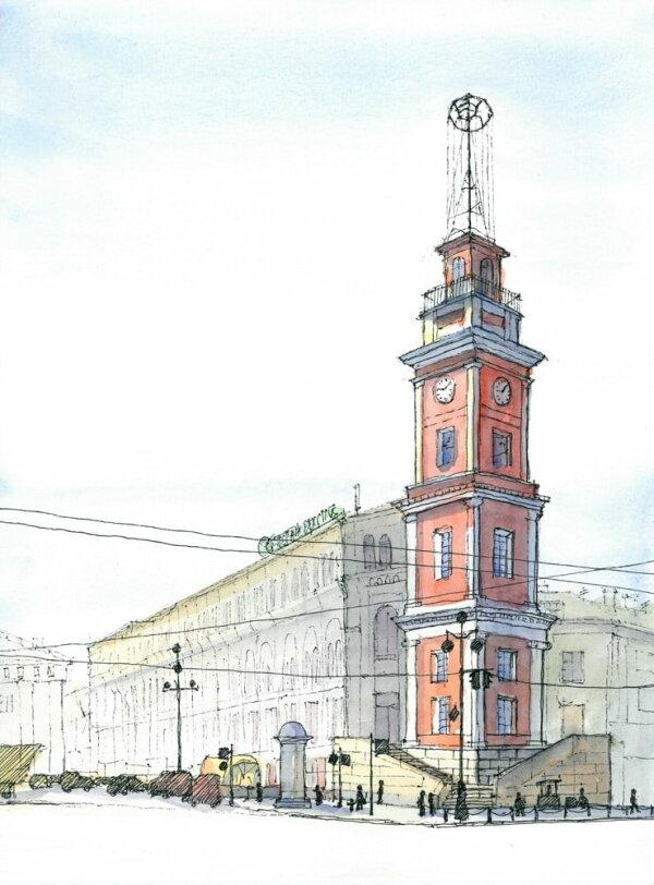 Постер Башня Городской Думы А3