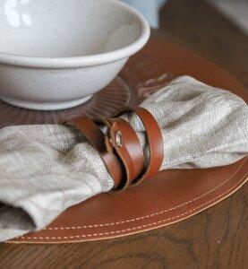 Шнурок для салфеток SPIRAL brown (комплект 4 шт)