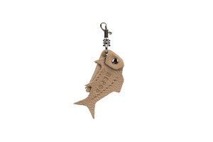 Брелок Рыбка Beige